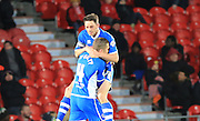 Ian Henderson Goal during the Sky Bet League 1 match between Doncaster Rovers and Rochdale at the Keepmoat Stadium, Doncaster, England on 21 November 2015. Photo by Daniel Youngs.