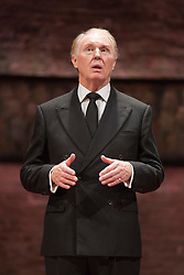 © Licensed to London News Pictures. 08/09/2014. London, England. Pictured: Tim Pigott-Smith as Charles. King Charles III, a play in blank verse by Mike Bartlett and directed by Rupert Goold has now transferred from the Almeida to Wyndham's Theatre, London. With Tim Pigott-Smith as Charles. Photo credit: Bettina Strenske/LNP