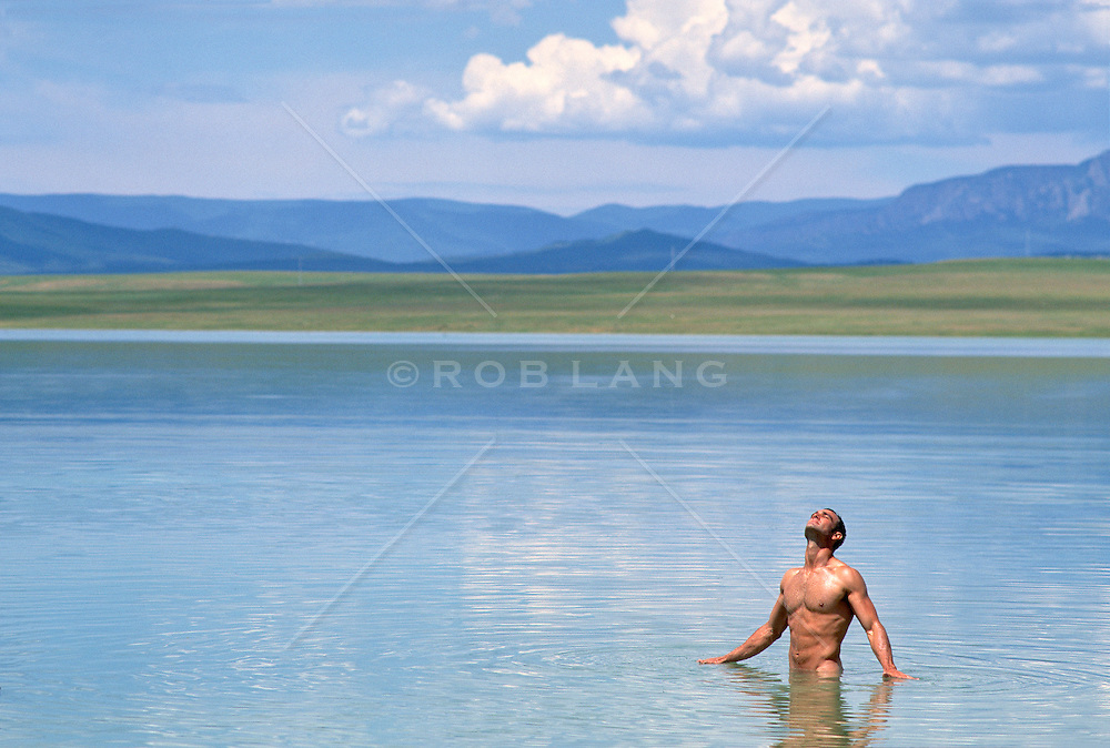 sexy man in water