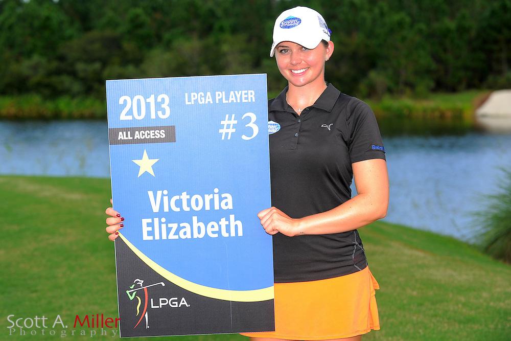 Victoria Elizabeth with her card following the final round of the Daytona Beach Invitational  at LPGA International on Sep 30, 2012 in Daytona Beach, Florida...©2012 Scott A. Miller