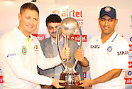 Cricket - India v Australia test Trophy Unveiled