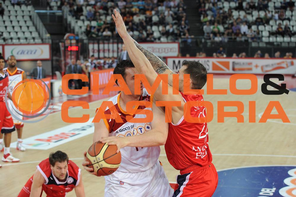 DESCRIZIONE : Roma Lega A 2010-11 Lottomatica Virtus Angelico Biella<br /> GIOCATORE : Marc salyers<br /> SQUADRA : Lottomatica Virtus Roma Angelico Biella<br /> EVENTO : Campionato Lega A 2010-2011 <br /> GARA : Lottomatica Virtus Roma Angelico Biella<br /> DATA : 10/04/2011<br /> CATEGORIA : Difesa<br /> SPORT : Pallacanestro <br /> AUTORE : Agenzia Ciamillo-Castoria/GiulioCiamillo<br /> Galleria : Lega Basket A 2010-2011 <br /> Fotonotizia : Roma Lega A 2010-11 Lottomatica Virtus Roma Angelico Biella<br /> Predefinita :