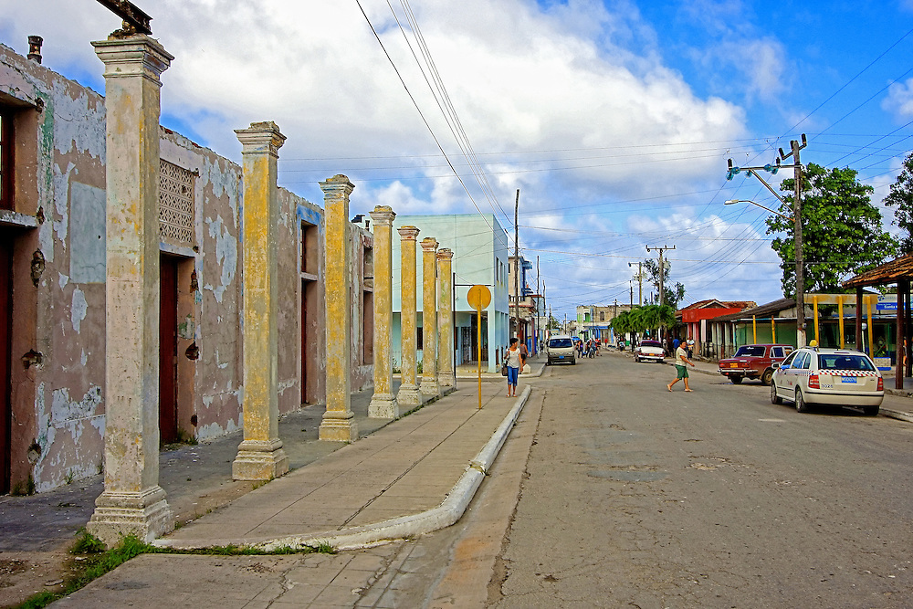 Street in Santa Cruz del Norte, Mayabeque, Cuba.
