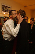 Jeremy irons and Samuel Irons. Opening night of Embers, Duke of York's theatre. St. Martin's Lane. London. 1 March 2006. ONE TIME USE ONLY - DO NOT ARCHIVE  © Copyright Photograph by Dafydd Jones 66 Stockwell Park Rd. London SW9 0DA Tel 020 7733 0108 www.dafjones.com
