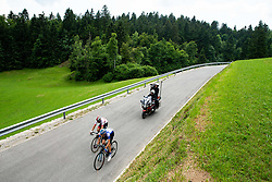 Aleksandr Vlasov (RUS) of Gazprom - Rusvelo and Diego Ulissi (ITA) of UAE Team Emirates during 3rd Stage of 26th Tour of Slovenia 2019 cycling race between Zalec and Idrija (169,8 km), on June 21, 2019 in Slovenia. Photo by Vid Ponikvar / Sportida