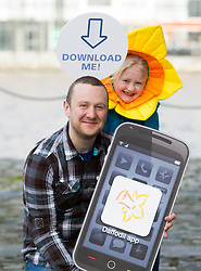 Repro Free: 'APPY DAYS' Today well known comedian, PJ Gallagher, with little helper Charlotte Slevin (age 7), 'download' the first ever Daffodil Day app in advance of the Irish Cancer Society's 26th Daffodil Day, supported by Dell, which is taking place on Friday 22nd March. This exciting innovation has been developed by Dell employees in collaboration with the Irish Cancer Society. As the lead partner for Daffodil Day, this will be the third year that Dell will support the annual campaign. The aim of the App is to expand the reach of the campaign even further, and to make it easier for people to donate and get information about Daffodil Day. The app is available to download free from today in all mobile phone app stores. .Daffodil Day aims to raise ?3.4million for cancer information, care and support services around the country and appeal for volunteers to get involved. Visit www.cancer.ie   or CallSave 1850 60 60 60 to organise, volunteer or donate. Picture Andres Poveda