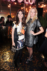 Left to right, TANIA FERRIS and CLARA PAGET at a party to celebrate the launch of Lulu & Co held at the Fifth Floor Cafe, Harvey Nichols, Knightsbridge, London on 21st October 2010.
