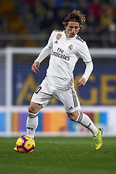 January 3, 2019 - Villarreal, Castellon, Spain - Luka Modric of Real Madrid  in action during the week 17 of La Liga match between Villarreal CF and Real Madrid at Ceramica Stadium in Villarreal, Spain on January 3 2019. (Credit Image: © Jose Breton/NurPhoto via ZUMA Press)