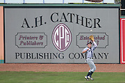 June 2, 2010; Birmingham, AL, USA; Tennessee Smokies outfielder makes a catch at the 15th Annual Rickwood Classic at Rickwood Field. Mandatory credit  Marvin Gentry