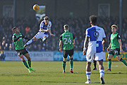 Bristol Rovers Stuart Sinclair (24) heads the ball away during the EFL Sky Bet League 1 match between Bristol Rovers and Scunthorpe United at the Memorial Stadium, Bristol, England on 24 February 2018. Picture by Gary Learmonth.