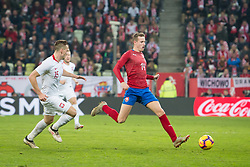 November 15, 2018 - Gdansk, Pomorze, Poland - Tomasz Kedziora (15) Jakub Jankto (14) during the international friendly soccer match between Poland and Czech Republic at Energa Stadium in Gdansk, Poland on 15 November 2018  (Credit Image: © Mateusz Wlodarczyk/NurPhoto via ZUMA Press)