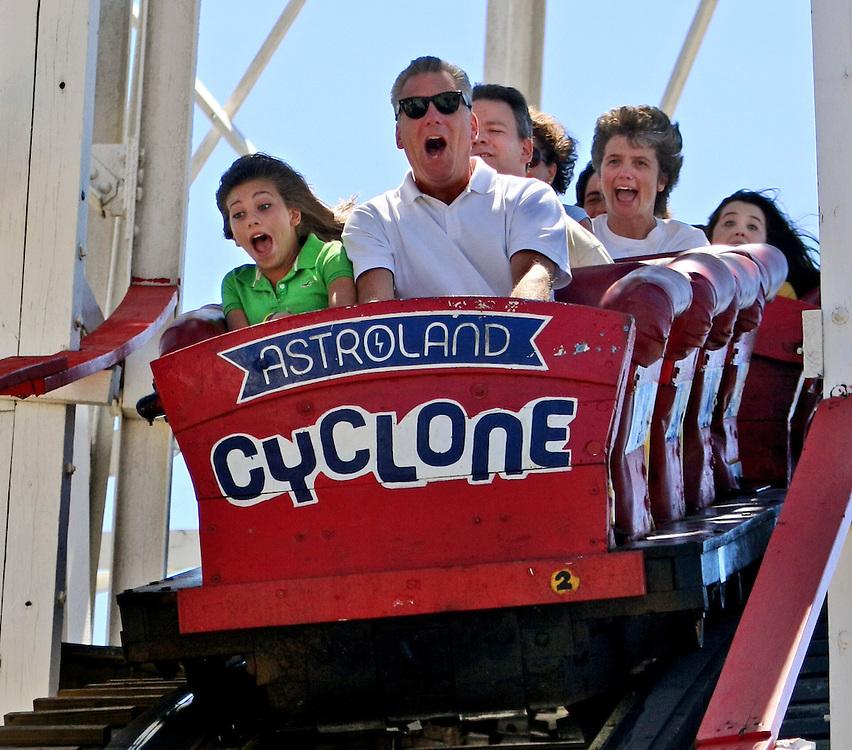 Augghh! Coney Island, Brooklyn's Cyclone roller coaster.