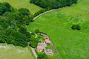 Nederland, Gelderland, Gemeente Bronckhorst, 29-05-2019; boerderij in de Achterhoek, boerenhoeve met schuren. Ten westen van Vorden. <br /> Farm in Achterhoek, East Holland.<br /> <br /> luchtfoto (toeslag op standard tarieven);<br /> aerial photo (additional fee required);<br /> copyright foto/photo Siebe Swart
