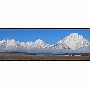 Grand Tetons, WY - Viewpoint - Panoramic - Custom Border