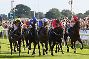 SHAMAD (11) ridden by Oisin Orr and trained by Irish based Trainer Peter Fahey winning The SHA and Carat Apprentice Handicap Stakes over 1m 4f (£15,000) duing the Family Race Day held at York Racecourse, York, United Kingdom on 8 September 2019.