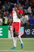 Usain Bolt (FIFA 98) desapointed after a goal scored by Zinedine Zidane (France 98) during the 2018 Friendly Game football match between France 98 and FIFA 98 on June 12, 2018 at U Arena in Nanterre near Paris, France - Photo Stephane Allaman / ProSportsImages / DPPI