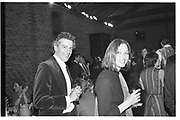 Mark Boxer; Anna Ford. Observer party. Whitbread Brewery. London. 8 May 1983. SUPPLIED FOR ONE-TIME USE ONLY> DO NOT ARCHIVE. © Copyright Photograph by Dafydd Jones 248 Clapham Rd.  London SW90PZ Tel 020 7820 0771 www.dafjones.com