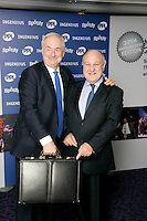 Paul Gambaccini and Harvey Goldsmith, the 2011 MITs Award. Held at the Grosvenor Hotel London in aid of Nordoff Robbins and the BRIT School. Monday, Nov.7, 2011