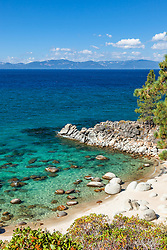 """Boulders at Secret Cove 8"" - These boulders shoreline were photographed at Secret Cove on the East Shore of Lake Tahoe."