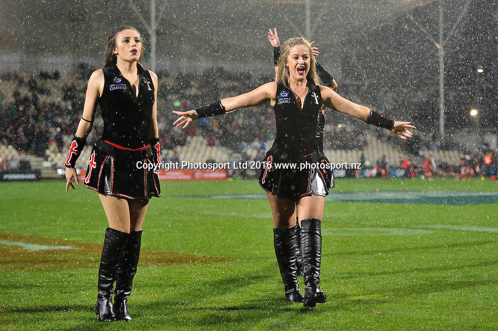 The  maidens during the Super Rugby Match, Crusaders V Waratahs, AMI Stadium, Christchurch, New Zealand. 20th May 2016. Copyright Photo: John Davidson / www.photosport.nz