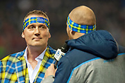 Scotland legend, Doddie Weir is interviewed at half time by Alastair Kellock during the Autumn Test match between Scotland and South Africa at the BT Murrayfield Stadium, Edinburgh, Scotland on 17 November 2018.