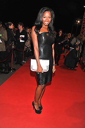 Singer JAMELIA at the Battersea Dogs & Cats Home Collars & Coats Gala Ball held at Battersea Evolution, Battersea Park, London SW8 on 8th November 2012.