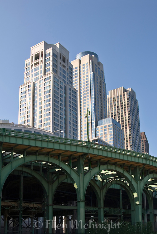Trump Place and Old Miller Viaduct on Upper West Side of Manhattan