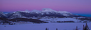 Gore Mountain Range and Lake Dillon at Sunrise, Summit County, Colorado