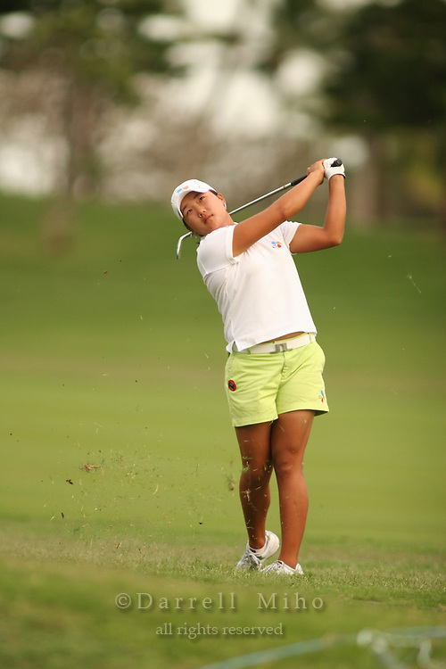 Kapolei, HI, February 24, 2006 - Seon Hwa Lee hits an approach shot during the 2nd round of the LPGA Fields Open at Ko Olina Resort...Mandatory Photo Credit: Darrell Miho