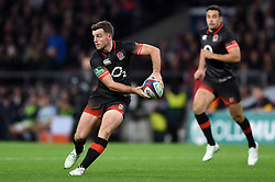 George Ford of England looks to pass the ball - Mandatory byline: Patrick Khachfe/JMP - 07966 386802 - 11/11/2017 - RUGBY UNION - Twickenham Stadium - London, England - England v Argentina - Old Mutual Wealth Series International
