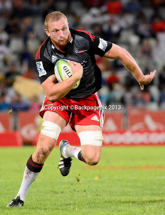 Dominic Bird of Crusaders during the Super 15 match between Free State Cheetahs and Crusaders on 12 April 2014 at Free State Stadium<br />  &copy;Frikkie Kapp/BackpagePix