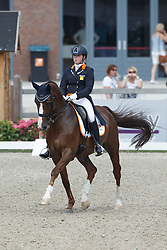 De Koeyer Jasmien, (NED), Tc Take It Easy<br /> Equine MERC Young Riders Team Test<br /> Dutch Championship Dressage - Ermelo 2015<br /> © Hippo Foto - Dirk Caremans<br /> 17/07/15