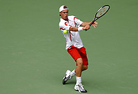 MELBOURNE, AUSTRALIA - JANUARY 20:  Lleyton Hewitt of Australia in action against  Cecil Mamiit of USA during day two of the Australian Open. 20/01/2004, in Melbourne, Australia. (Photo by Lars Mueller/Sportsbeat) *** Local Caption ***  Lleyton Hewitt