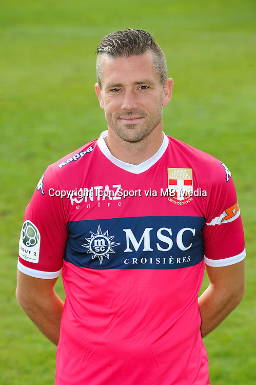 Johann DURAND - 29.09.2015 - Photo officielle - Evian Thonon - Ligue 2<br /> Photo : Jean Paul Thomas / Icon Sport