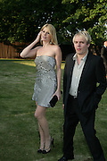 NICK RHODES AND MEREDITH OSTRON, The Summer Party in association with Swarovski. Co-Chairs: Zaha Hadid and Dennis Hopper, Serpentine Gallery. London. 11 July 2007. <br />