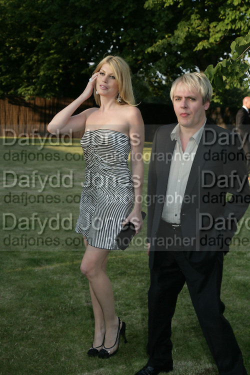 NICK RHODES AND MEREDITH OSTRON, The Summer Party in association with Swarovski. Co-Chairs: Zaha Hadid and Dennis Hopper, Serpentine Gallery. London. 11 July 2007. <br /> -DO NOT ARCHIVE-&copy; Copyright Photograph by Dafydd Jones. 248 Clapham Rd. London SW9 0PZ. Tel 0207 820 0771. www.dafjones.com.