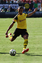 July 22, 2018 - Charlotte, NC, U.S. - CHARLOTTE, NC - JULY 22: Herbet Bockhorn (39) of Borussia Dortmund prepares to take a shot on goal during the International Champions Cup soccer match between Liverpool FC and Borussia Dortmund in Charlotte, N.C. on July 22, 2018. (Photo by John Byrum/Icon Sportswire) (Credit Image: © John Byrum/Icon SMI via ZUMA Press)