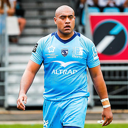 Caleb TIMU of Montpellier during the Top 14 match between Bayonne and Montpellier on October 12, 2019 in Bayonne, France. (Photo by JF Sanchez/Icon Sport) - Caleb TIMU - Stade Jean Dauger - Bayonne (France)