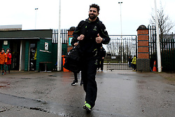 Wynand Olivier of Worcester Warriors arrives at Franklin's Gardens for the Aviva Premiership fixture against Northampton Saints - Mandatory by-line: Robbie Stephenson/JMP - 25/02/2017 - RUGBY - Franklin's Gardens - Northampton, England - Northampton Saints v Worcester Warriors - Aviva Premiership
