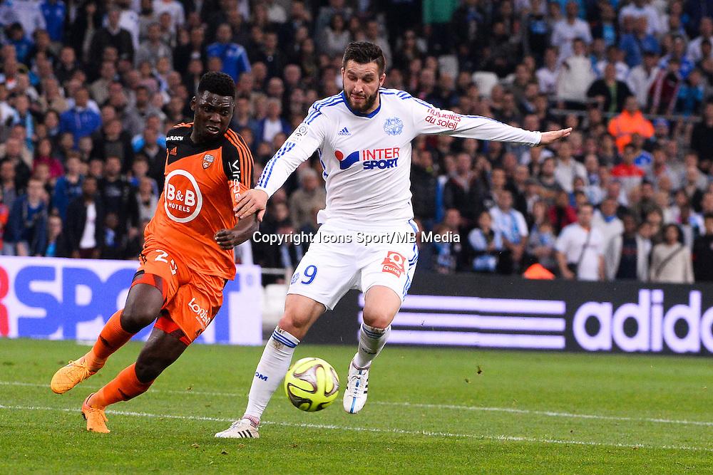 Andre Pierre GIGNAC - 24.04.2015 - Marseille / Lorient - 34eme journee de Ligue 1<br />Photo : Gaston Petrelli / Icon Sport
