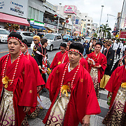 OKINAWA, JAPAN - JANUARY 8 : New adults in kimonos show off in Kokusai dori after attending a Coming of Age Day celebration ceremony in Okinawa, Japan on January 8, 2017. The Coming of Age Day, one of the Japanese national holidays, is the day to celebrate young people who have reached the age of 20, the age of maturity in Japan, when they are legally permitted to smoke, drink alcohol and vote. (Photo by Richard Atrero de Guzman/NURPhoto)