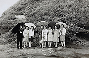 Japanese people posing for group photo
