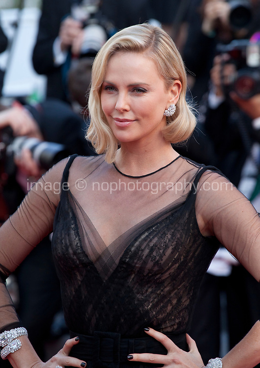 Charlize Theron at the 70th Anniversary Ceremony arrivals at the 70th Cannes Film Festival Tuesday 23rd May 2017, Cannes, France. Photo credit: Doreen Kennedy