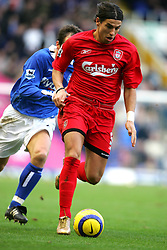 BIRMINGHAM, ENGLAND - SATURDAY FEBRUARY 12th 2005: Liverpool's Milan Baros in action against Birmingham City during the Premiership match at St. Andrews (Pic by David Rawcliffe/Propaganda)