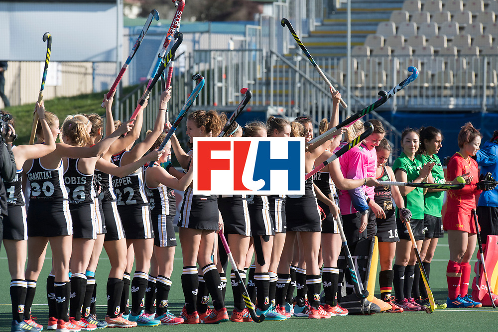 AUCKLAND - Sentinel Hockey World League final women<br /> Match id 10297<br /> 07 Germany v China<br /> Foto: Line up Germany.<br /> WORLDSPORTPICS COPYRIGHT FRANK UIJLENBROEK