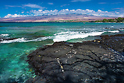 The Kohala Mountains from Puako, Kohala Coast, The Big Island, Hawaii, USA
