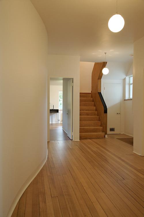 The downstairs hallway at Warren House, Wayne McGregor's Dartington Estate home in Devon<br /> Vanessa Berberian for The Wall Street Journal