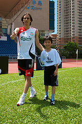 Hong Kong, China - Wednesday, July 25, 2007: Liverpool's Yossi Benayoun during a coaching session with local children at the Siu Sai Wan Sports Ground in Hong Kong. (Photo by David Rawcliffe/Propaganda)