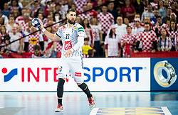 Luka Karabatic of France during handball match between National teams of Croatia and France on Day 7 in Main Round of Men's EHF EURO 2018, on January 24, 2018 in Arena Zagreb, Zagreb, Croatia.  Photo by Vid Ponikvar / Sportida