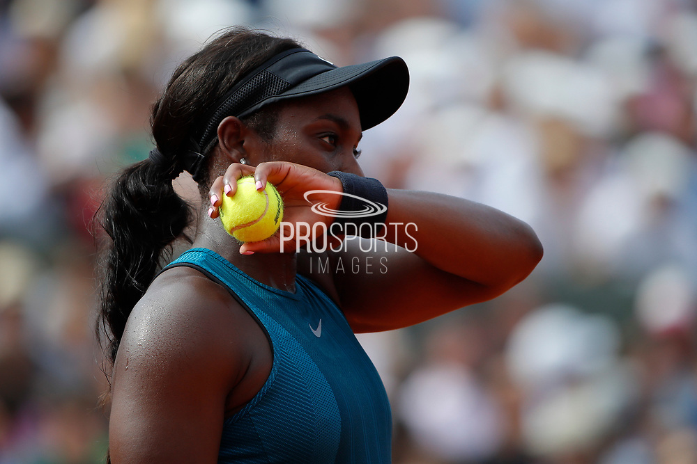 Sloane STEPHENS (USA) lost the women final tournament during the Roland Garros French Tennis Open 2018, Final Women, on June 9, 2018, at the Roland Garros Stadium in Paris, France - Photo Stephane Allaman / ProSportsImages / DPPI